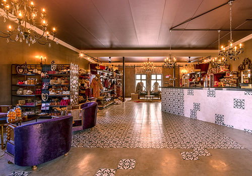 The reception area and souvenir shop at the new lodge Etosha King Nehale. Photo: Gondwana Collection Namibia