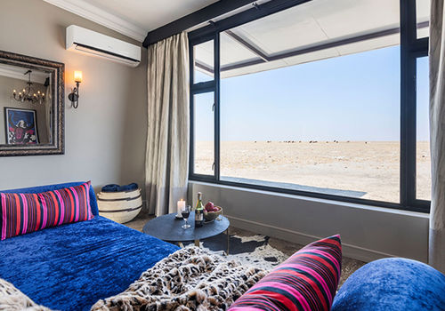 All rooms offer an unrestricted view over the Andoni plain. Photo: Gondwana Collection