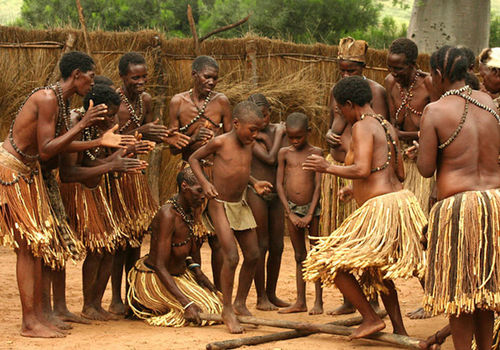 People perform a traditional dance at the Mafwe living museum in the Zambezi Region. Photo:  LCFN