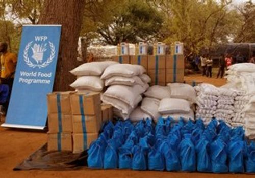 The Chinese embassy in Windhoek donated funding which was channelled via the World Food Programme (WFP) to buy food items for needy inhabitants of the Kavango-West Region, who need drought aid. Photo by: WFP