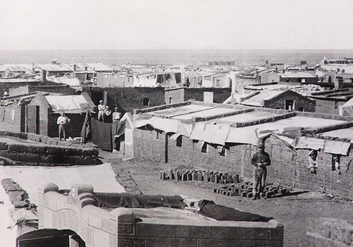 The POW camp at Aus in 1918. (Source: Namibia National Archives)